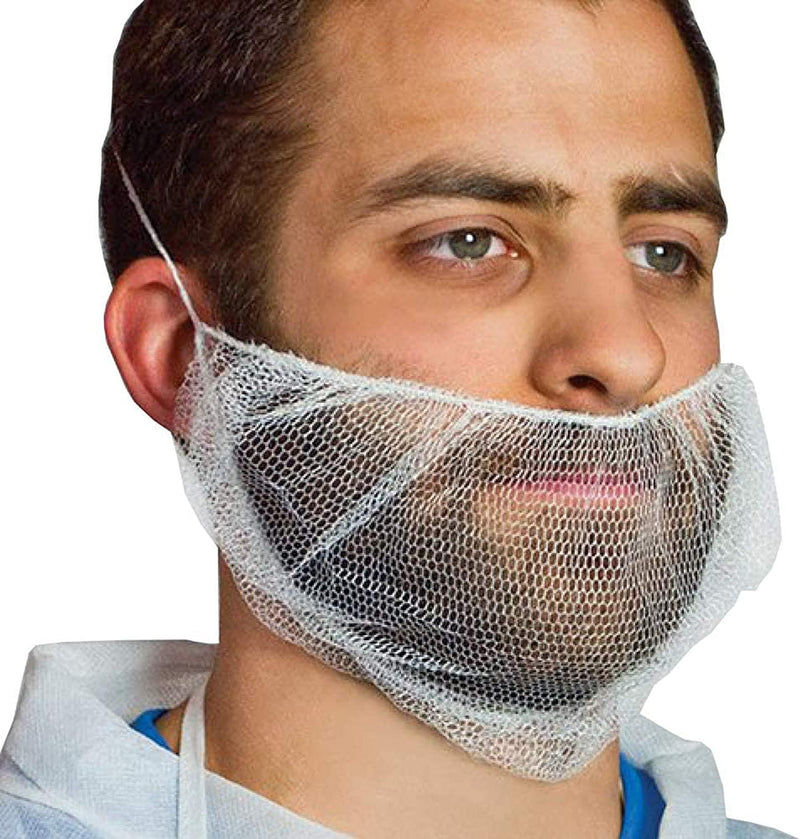 Disposable Virgin Nylon Beard Covers Honeycomb Beard Nets /w Single loop