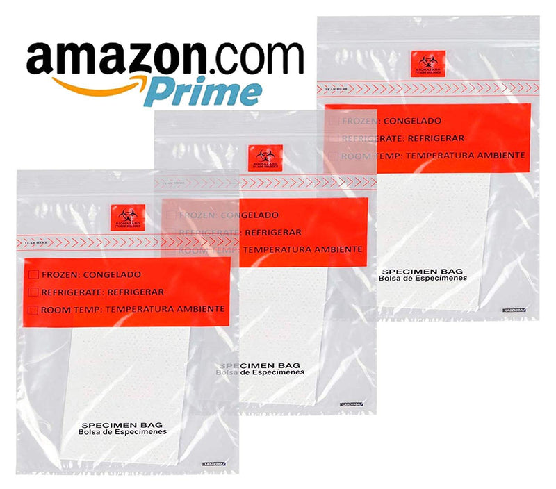 "1000 Pack Clear Tamper-Evident Specimen Bags /w Absorbent Pad 6"" x 9"" 1.80 Mil"