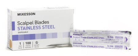Surgical Blade McKesson Brand Stainless Steel No. 11 Sterile Disposable Individually Wrapped - 1000 pack