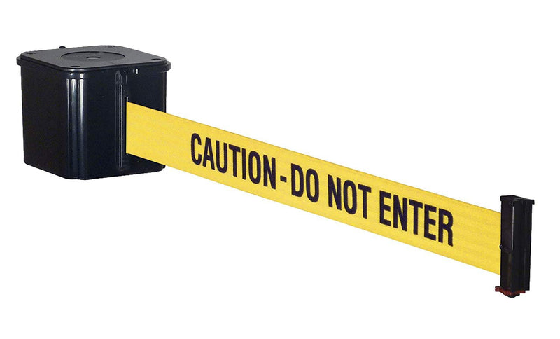 "Yellow and Black ""Caution Do Not Enter"" Printed Barricade Tape 3 Mil 3"" x 1000'"
