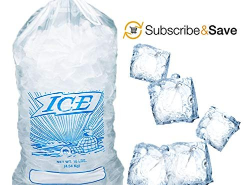 Pack Of 500 Printed Metallocene Ice Bags 25 lb, 15 x 30. Open End Polyethylene Bags 15 x 30. FDA Approved, 2 Mil - AMZSupply.com