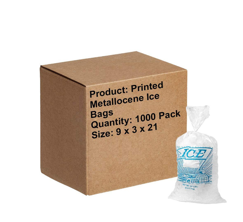 "1000 Pack Clear Poly Gusseted Bags 9"" x 3"" x 21"""