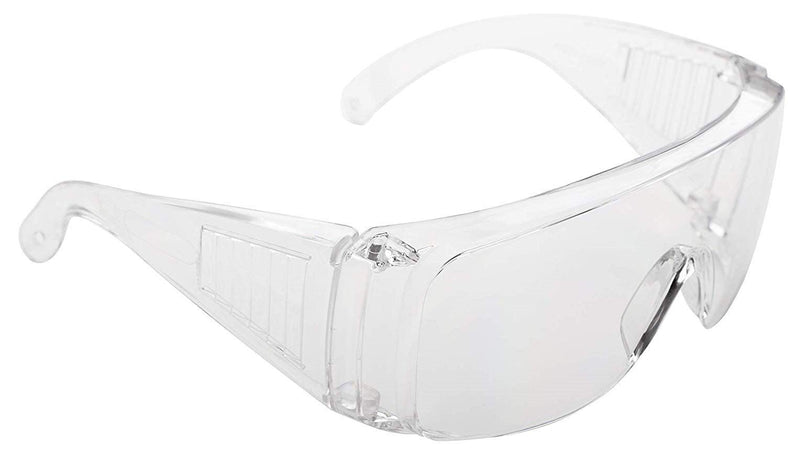 Clear Frame Safety Glasses Adjustable Anti-fog Goggles /w ANSI Anti-Scratch Lens