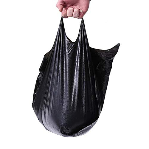 Pack Of 2000 Black Plastic Bags 6 X 4 X 15. Plain Carry-Out T-Shirt Bags 6X4X15. Thickness 0.65 Mil. Unprinted Shopping Bags. - AMZ Supply