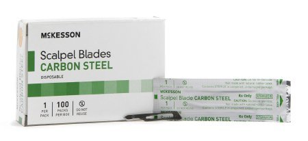 Surgical Blade McKesson Brand Carbon Steel No. 15 Sterile Disposable Individually Wrapped - 5000 pack
