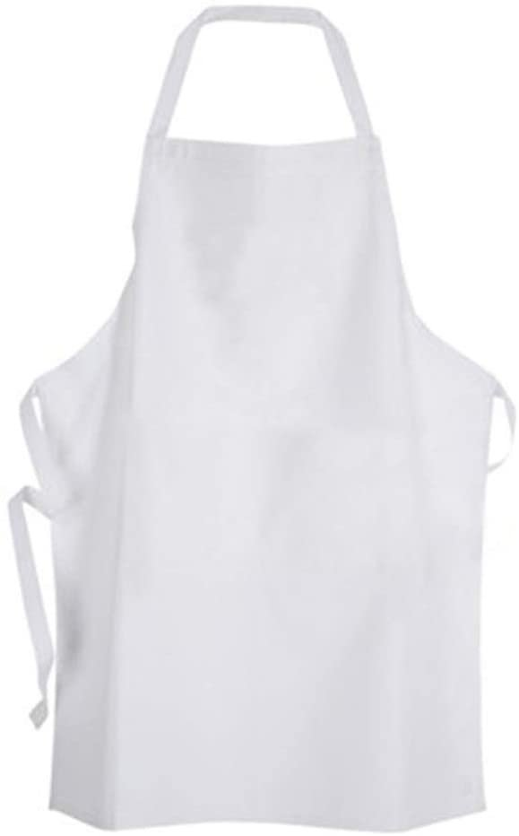 White Disposable Hemmed Vinyl Aprons 6 Mil