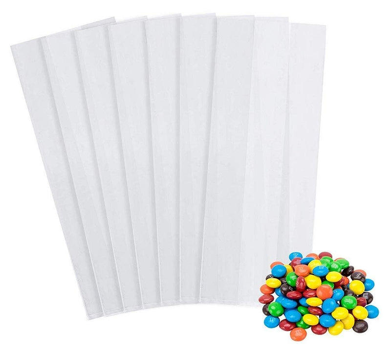 "1000 Pack Clear Poly Gusset Bags 6"" x 3"" x 12"""