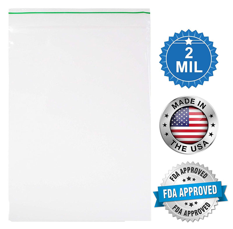 "1000 Pack Greenline Poly Zip Lock Bags 5"" x 7"""