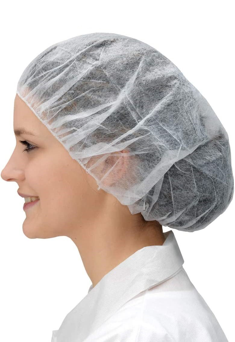 Virgin Spunbonded Polypropylene Non-Woven Fabric Bouffant Caps