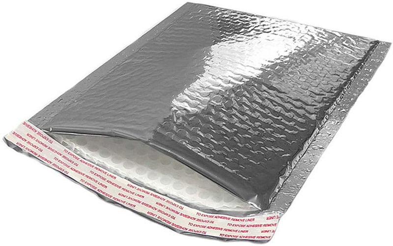 Thermal Insulated Bubble Mailers Food Grade Padded Envelopes Metallic Foil 10 Pack - AMZSupply.com