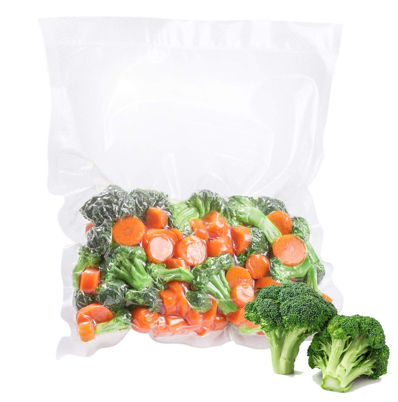 Pack Of 500 Laminated Vacuum Pouches, Clear 16 X 20. Poly-Nylon Vacuum Food Bags 16X20. FDA, USDA Approved, 3 Mil Thick. - AMZ Supply