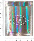 Holographic Glamour Mirrored Metallic Foil Self-Seal Bubble Mailers Cushion Padded Envelopes /w Peel & Seal
