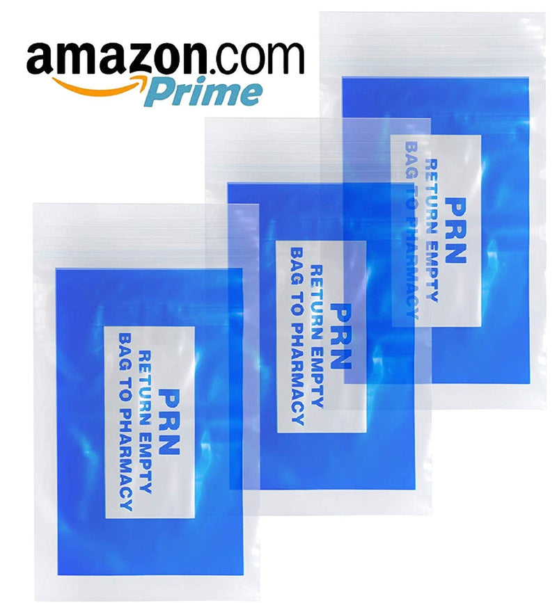 "100 Pack Clear Blue Poly PRN Bags 2"" x 3"""