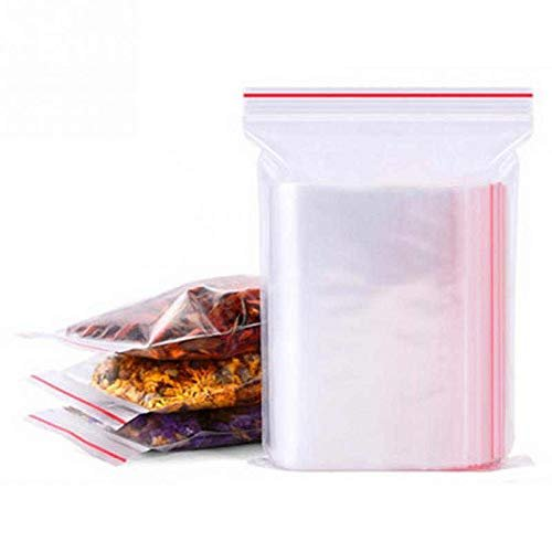 "100 Pack Clear Poly Co-Extruded Bags 10"" x 8"""