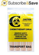 "1000 Pack Clear Poly Chemo Transfer Bags 6"" x 9"""