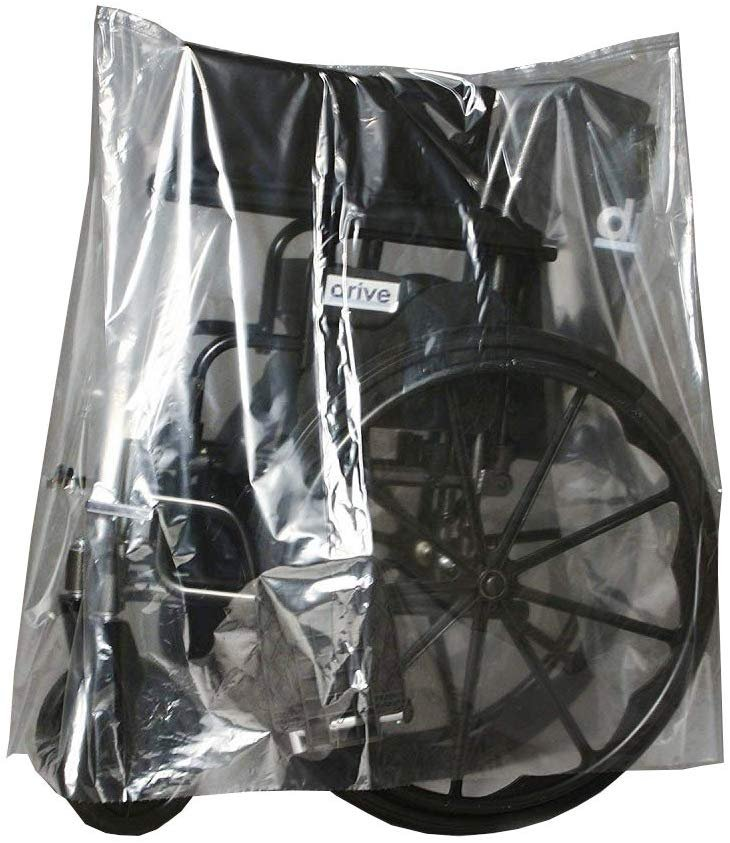 Roll Of 150 Equipment Covers On Roll 40 x 20 x 48. Clear Polyethylene Bags Thickness 1 Mil. Great For Hospitals And Home Medical Equipment - AMZSupply.com