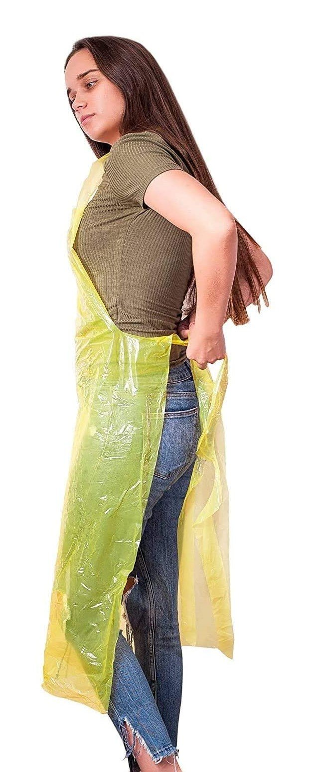 Disposable PE Aprons 0.8 Mil 28 x 46 Red/Yellow 50/100/1000 Pack