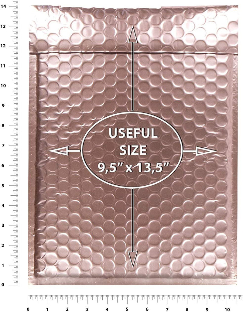 Matte Metallic Rose Gold Bubble Padded Mailers Self Seal Padded Envelopes