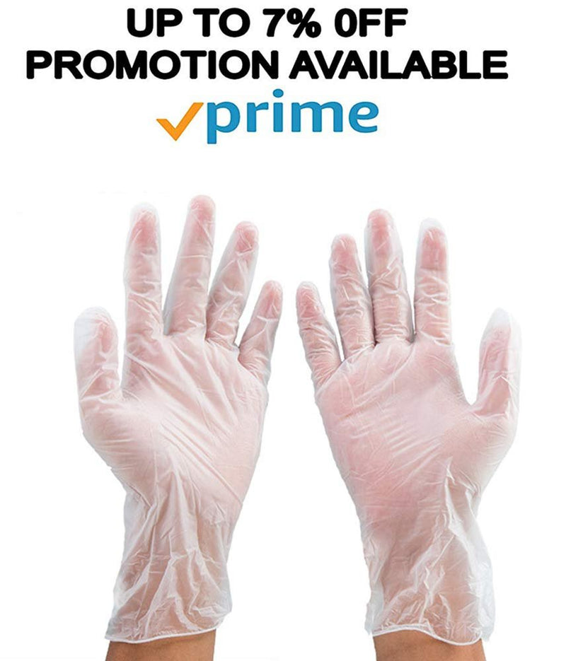 100 Pack Latex Protective Powdered Gloves L Size