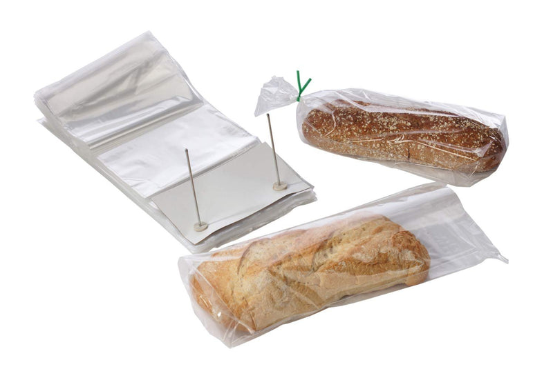 "100 Pack Clear Poly Bakery Bread Bags 14"" x 24"""