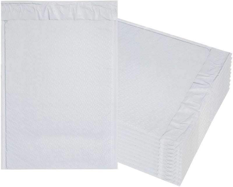 White Poly Bubble Mailers Padded Envelopes Poly Cushion Envelopes Peel and Seal
