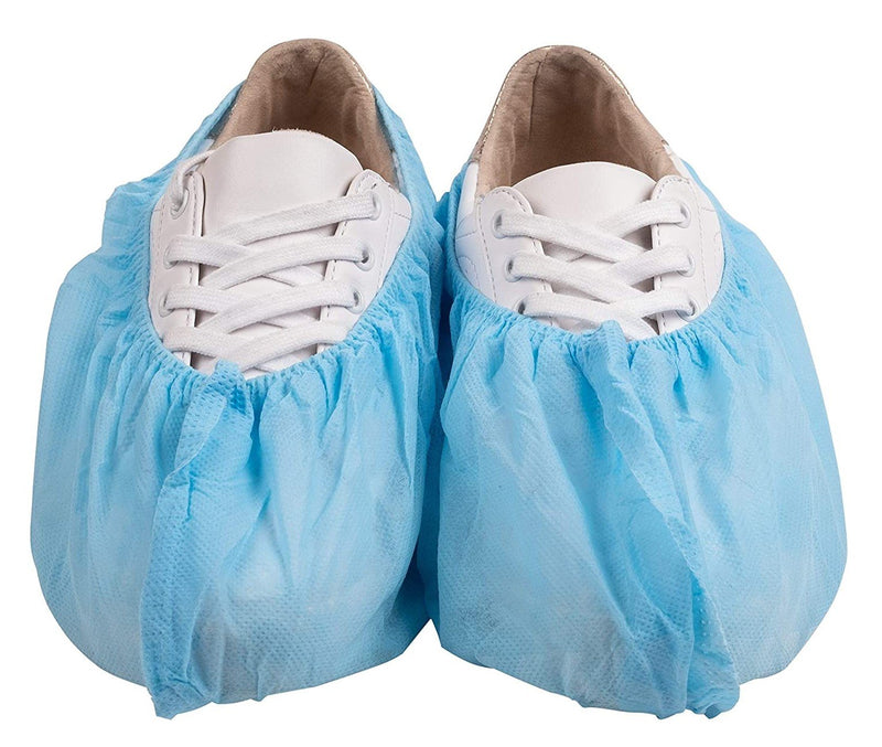 300 Pack Blue Disposable Non-Slip Heavy-Duty PP 40g Shoe Covers
