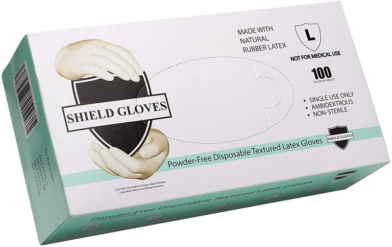 Natural Color Non-Exam Heavy Duty Latex Gloves 5.3 Mil Powder-Free for Non Medical Use