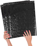Black Heavy-Duty Glamour Metallic Foil Self-Seal Bubble Mailers Cushion Padded Envelopes /w Peel & Seal