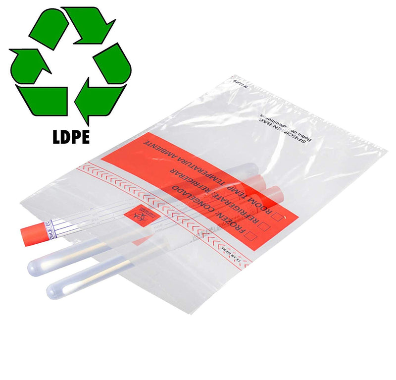 "1000 Pack Clear Poly Specimen Reclosable Bags 6"" x 9"" 1.75 Mil"