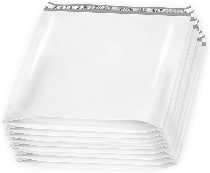 24x21x6 White Large Poly Mailers Gusseted Poly Mailer - 25 Pack - AMZSupply.com