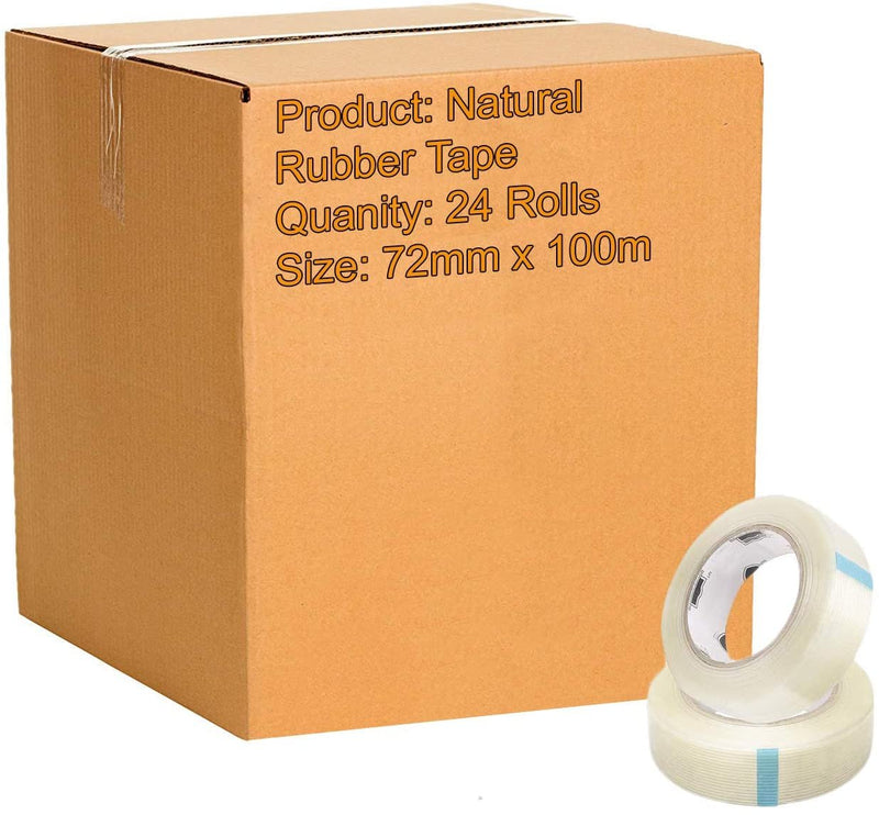 BOPP Film Clear Carton Sealing Tape 1.89 Mil /w Natural Rubber Adhesive 72mm x100m