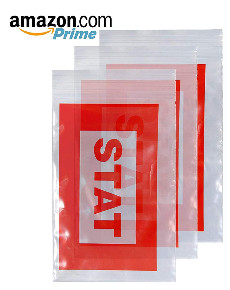 "1000 Pack Red Printed Poly Zip Locked Bags 6"" x 9"""