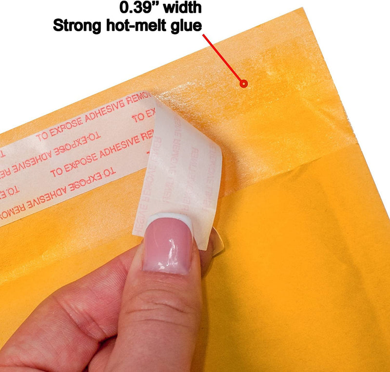 Yellow Kraft Self-Seal Bubble Mailers Cushion Padded Envelopes /w Peel & Seal
