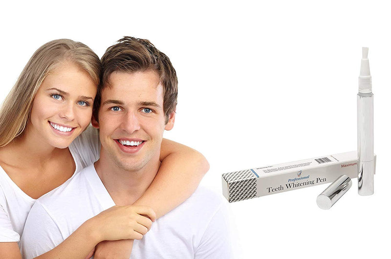 Professional Teeth Whitening Pen 2Ml. Ultimate Strength 44%. Compact And Portable. Soft Applicator. No-Leak Cap. Effective And Safe - AMZSupply.com