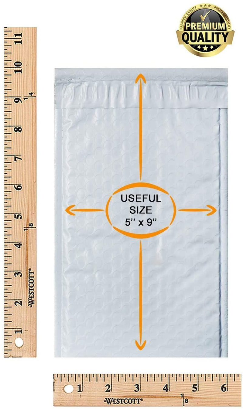 White Poly Heavy-Duty Self-Seal Bubble Mailers Cushion Padded Envelopes Peel & Seal