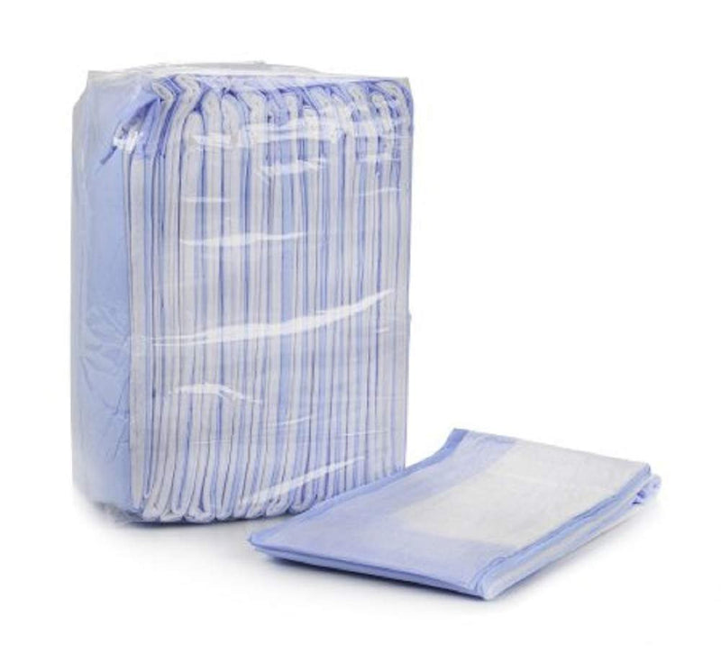 "Pack Of 150 Classic Absorbent Underpads 23"" x 36"" Incontinence Care Breathable, Durable, Blue Fluff/Polymer Disposable Underpads Light Absorbency - AMZSupply.com"