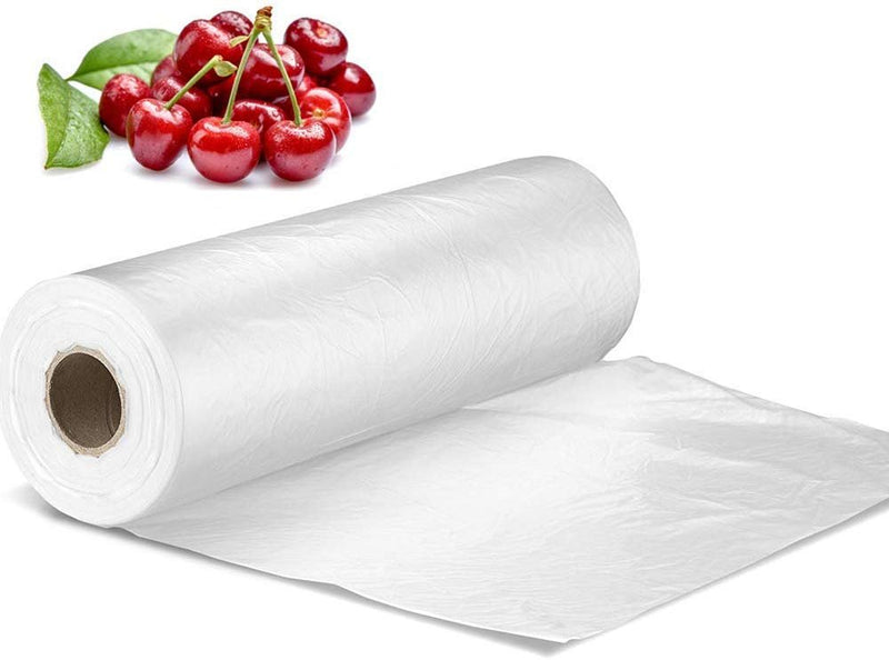 "1000 Pack Clear Poly Utility Bags on Rolls 18"" x 24"" / 0.60 mill"