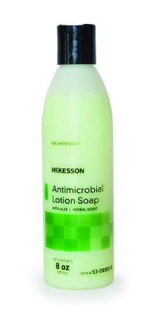 Antimicrobial Soap McKesson Lotion 8 oz. Bottle Herbal Scent - 48 pack