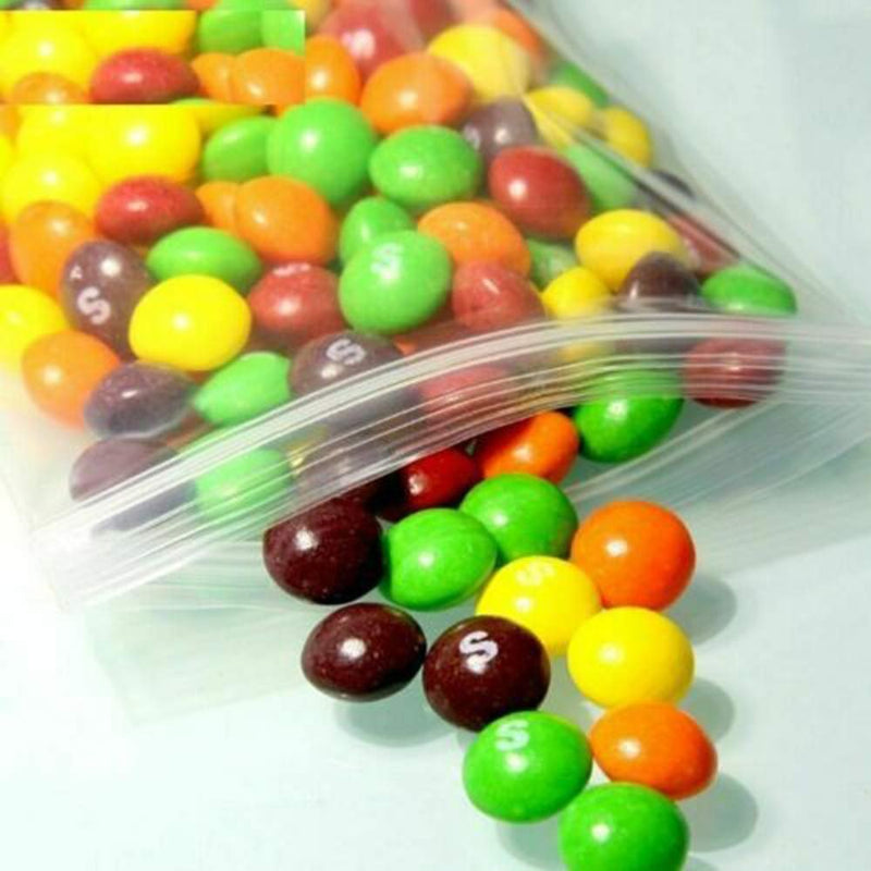 "1000 Pack Clear Poly Zipper Locking Bags 5"" x 8"""