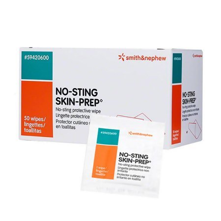Skin Barrier Wipe No-Sting Skin-Prep 75 to 100% Strength Hexamethyldisiloxane / Acrylate Copolymer Individual Packet Sterile - 1000 pack