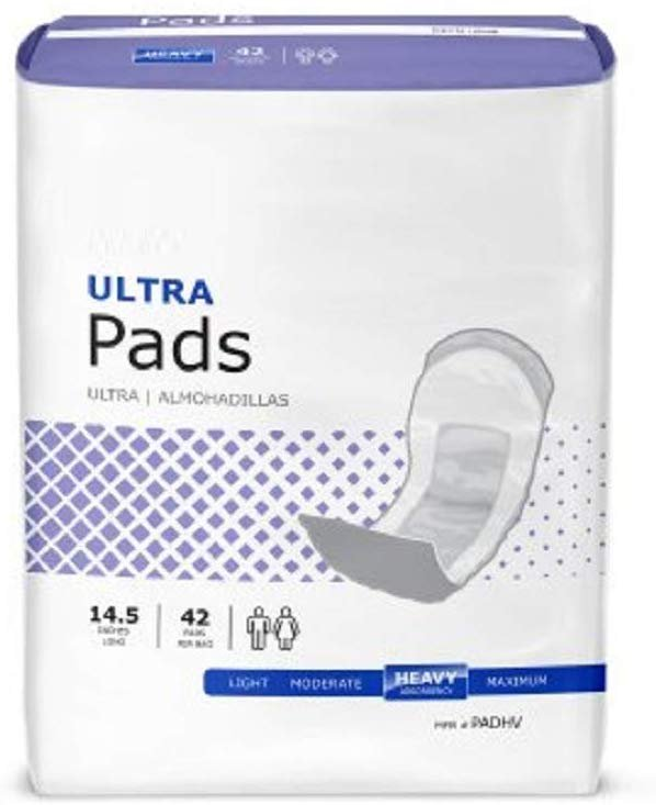 "330 Pack Bladder Control Pads, Regular 4"" x 9.5 "" Incontinence Care. Light And Moderate Absorbency. Moisture Proof Backing - AMZSupply.com"