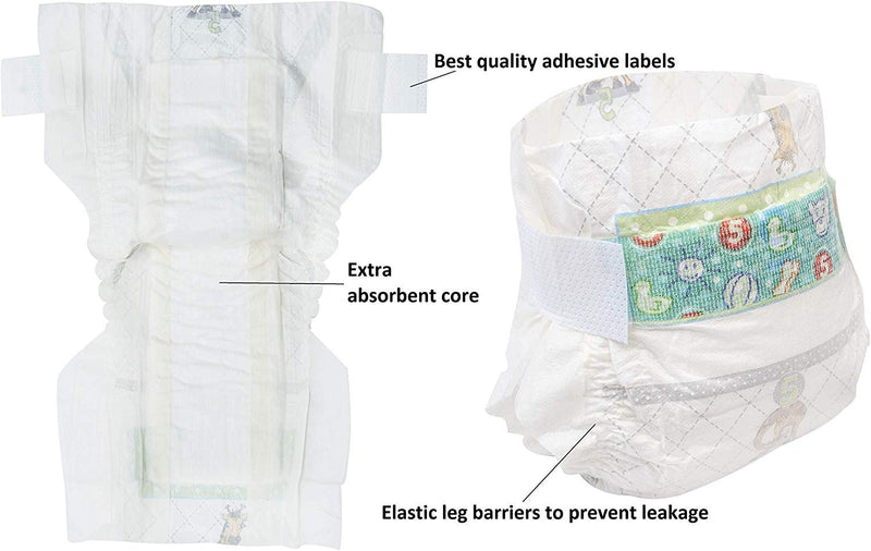 Pack Of 18 Disposable Baby Diapers Size M 12 – 23 lbS. Breathable And Lightweight. Maximum Absorbency. Leak Protective - AMZSupply.com