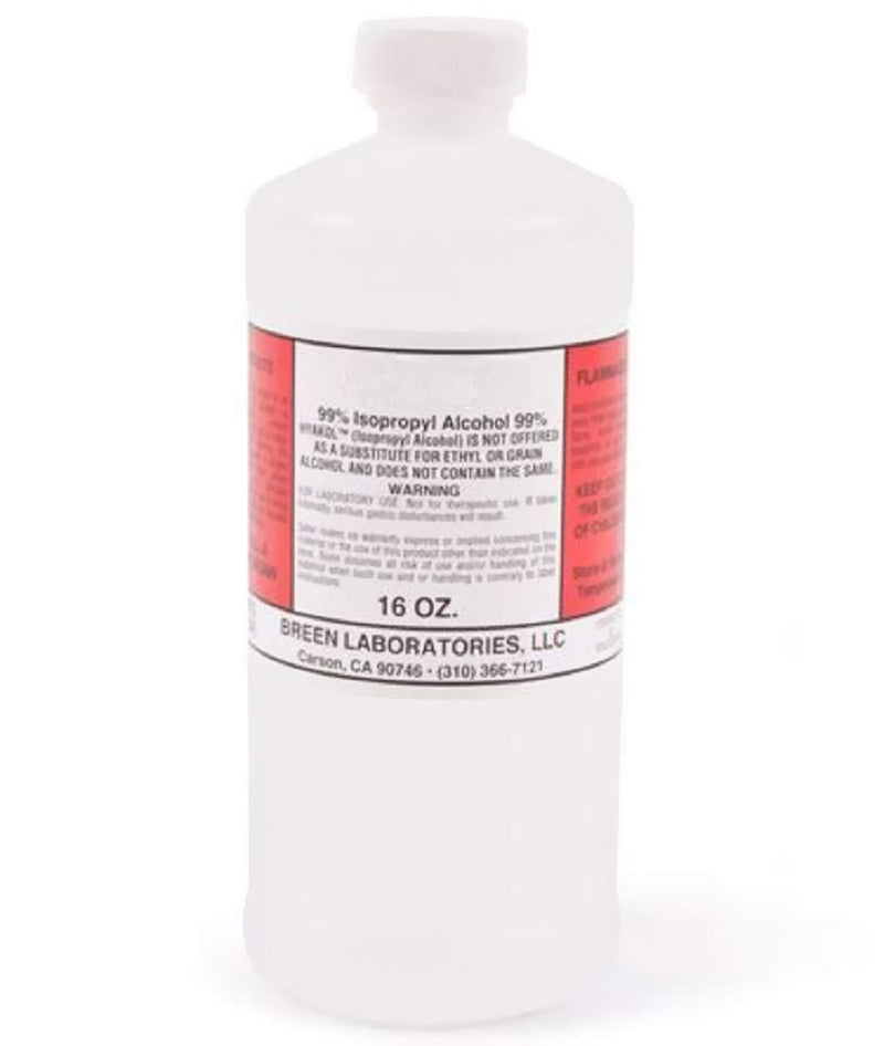 Pack Of 15 Isopropyl Alcohol 99% 16 Oz/Bottle Rubbing Alcohol. First Aid Antiseptic. Infection Fighter. Industrial And Household. - AMZ Supply