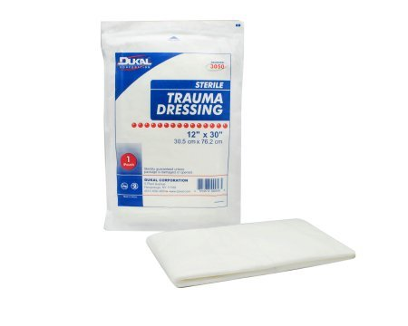 Trauma Dressing Dukal™ Nonwoven 12 X 30 Inch Rectangle Sterile - 25 pack