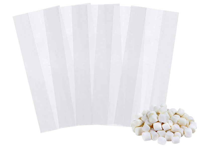 "1000 Pack Clear Poly Gusseted Bags 8"" x 4"" x 18"" 1 Mil"