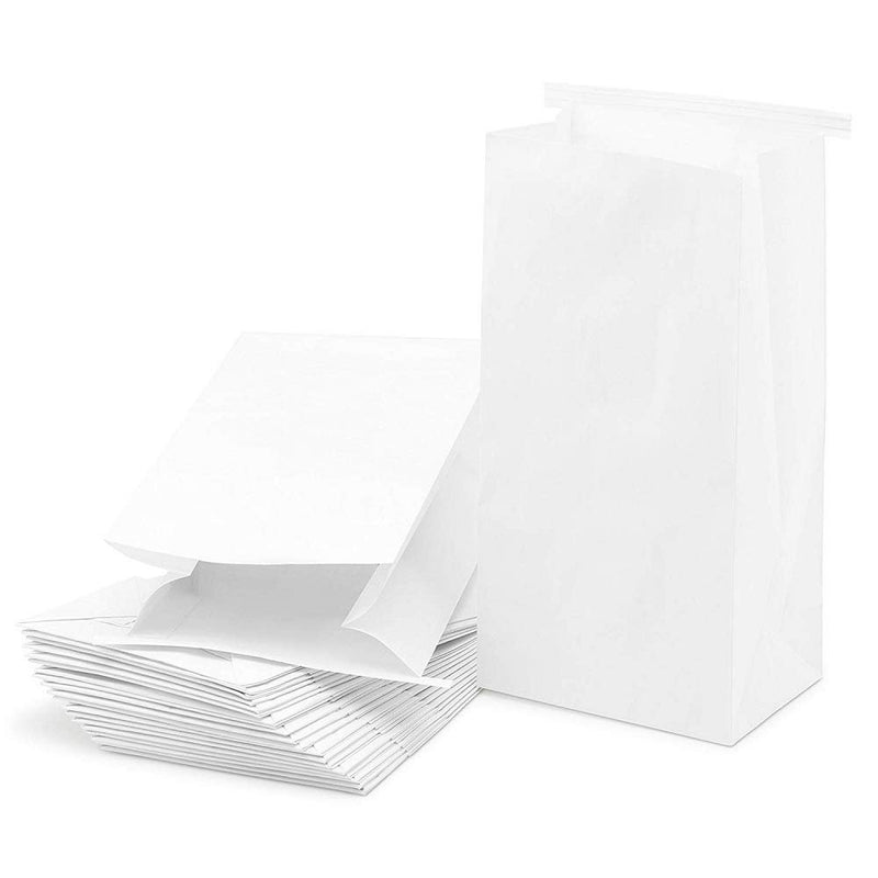 "1000 Pack White Poly Air Sickness Bags /w Tie Closure 4.5"" x 2.5"" x 8.5"""