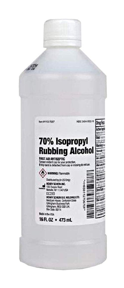 Pack Of 60 Isopropyl Alcohol 70% 16 oz Bottle Rubbing Alcohol First Aid Antiseptic Infection Fighter Industrial And Household Chemicals - AMZSupply.com