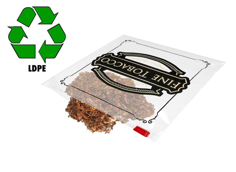Pack Of 50 Slider Lock Tobacco Bags 6.5 x 6. Heavy Duty Plastic Bags 4 Mil. Low Density Polyethylene Bags. Slide Top Closure Bags - AMZSupply.com