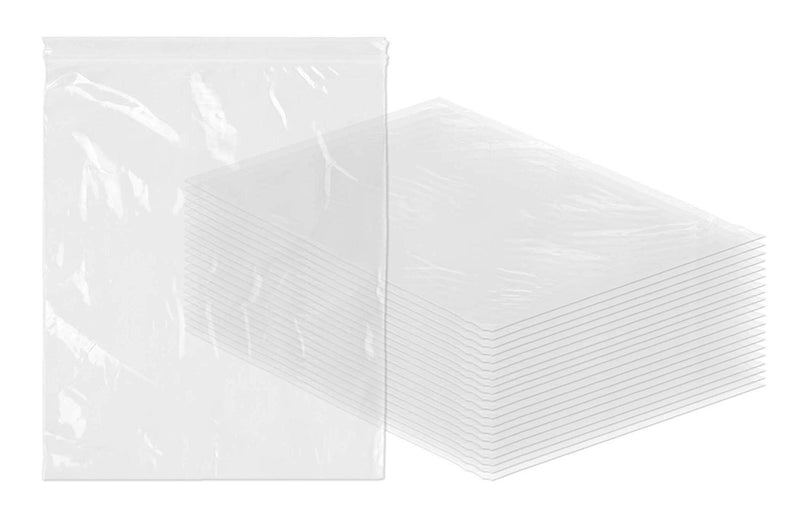 "1000 Pack Clear Poly Seal Top Bags 12"" x 15"" 2 Mil"