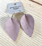 Cork Earrings - Dusty Rose - Soft Pastels Collection